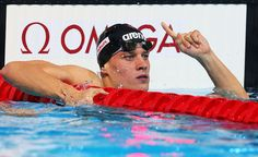 Daniel Gyurta of Hungary celebrates after the Swimming Men's Breaststroke 200m Final on day fourteen of the 15th FINA World Championships at Palau Sant Jordi on August 2, 2013 in Barcelona, Spain.