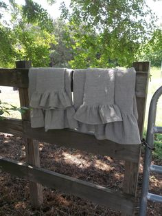 Ruffled Linen Towels Bath Towels Hand Towels Tea Towels Wedding Gift French Country Handmade Bath Décor  4 Pieces