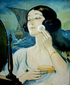 With makeup taking off in the 1920's I think this ad would be a popular one.