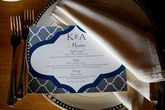 Modern Wedding Menu 550x366 Soft Spring Maryland Wedding Reception: Kelly + Andrew