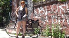 Redhead Biking in Brooklyn