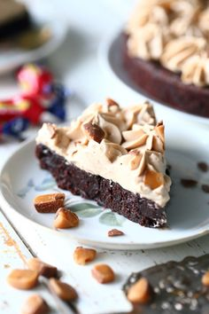 Ice Cream Pies, Piece Of Cakes, Healthy Treats, Vegan Desserts, Let Them Eat Cake, No Bake Cake, Food Inspiration, Cake Recipes, Sweet Treats