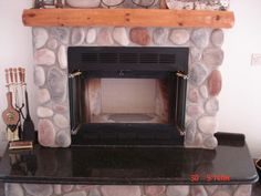 Temco fireplace - zero clearance with stone facade | Fireplaces ...