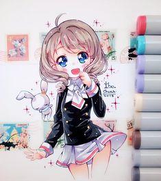 Akiho Intenté arreglar algunos detalles con lápices policromo pero no me salió En lo personal me encantó este personaje nuevo en cuanto a diseño. P.D: no XD no son sus calzones, es la parte de atrás de su falda