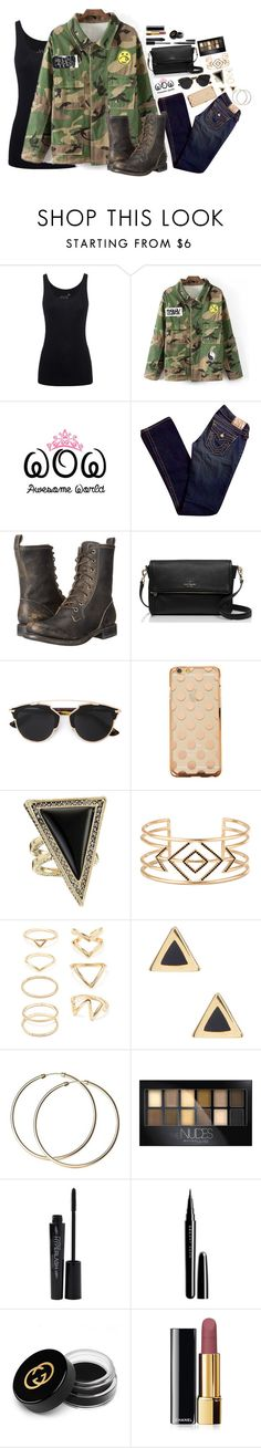 """""""Awesome World ~ 47"""" by style-and-chic-boutique ❤ liked on Polyvore featuring Juvia, True Religion, Frye, Kate Spade, Christian Dior, House of Harlow 1960, Stella & Dot, Forever 21, Ariella Collection and Maybelline"""