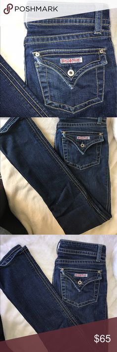 Hudson boot cut medium-dark wash jeans Very good quality Jeans. I wish I could wear them but they are too small for me. Hudson Jeans Pants Straight Leg
