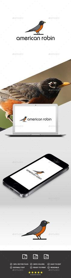 American Robin Logo #Ad #American, #affiliate, #Robin, #Logo