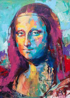Artist : Voka . Title : Mona Lisa Media : Original - Acrylic on Canvas Size : 140 x 100cm Price : www.artcatto.com
