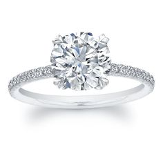My dream ring. Solitaire brilliant cut diamond with single diamond encrusted band.