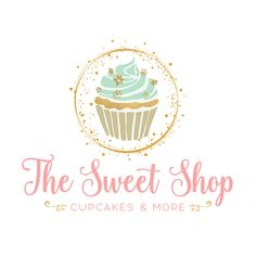 Golden Cupcake Premade Logo Design - Customized with Your Business Name - Graphic Templates Search Engine Bakery Business Cards, Cake Business, Cool Business Cards, Business Logo, Baking Business, Cupcake Logo, Cupcake Bakery, Cupcake Vector, Brand Identity Design