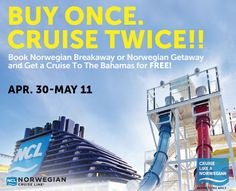 Contact www.travelonadream.com today and not only will you buy once, cruise twice, but you'll also get our onboard credit offer and excellent customer service!  You have nothing to lose!