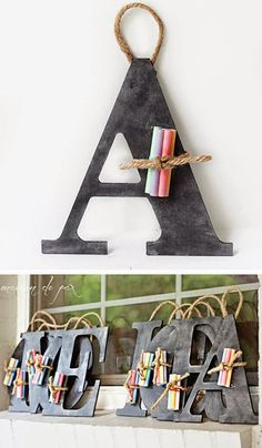 mommo design: CHALKBOARD PARTY - monogram chalk slate party favor