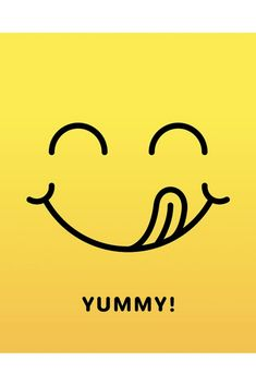 Yummy delicious taste happy smile face emoticon with tongue licking mouth. Resturant Logo, Logo Restaurant, Food Logo Design, Logo Food, Eat Happy, Happy Smile, Graphic Design Tips, Logo Design Inspiration, Yummy Emoji