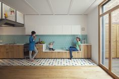 Nook Architects, nieve | Productora Audiovisual · Juno's House | Kitchen | Interior Space House | wood cupboard |
