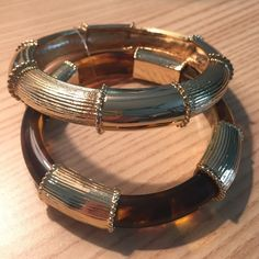 Lilly Pulitzer bangles: set of two; NWOT Lilly Pulitzer tortoise shell bangle set. Never worn before. Lilly Pulitzer Jewelry Bracelets