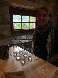Me being the nost genuinely happy I've ever been at Dewar's whisky distillery in Scotland.