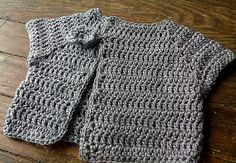 Crochet pattern for baby jacket