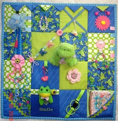 MiNnIe MiCkEy MoUsE Taggie or Fidget Activity Tactile Sensory Quilt Blanket for Alzheimer's, dementia, anxiety, brain trauma patients Sensory Blanket, Fidget Blankets, Fidget Quilt, Shabby Chic Pink, The Face, Pony Beads, Love Sewing, Alzheimers, Quiet Books