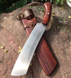 Modded Handmade Knife Machete - Competition Knife Cutting www.oldblockblades.com