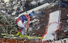 Home to the annual Hahnenkammrennen downhill ski race, the Streif in Kitzbuehel, Austria, is the world's toughest und most dangerous course.