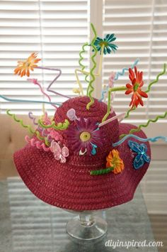 Crazy Hat Day Idea with Pipe Cleaners