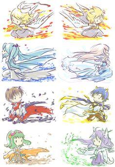 ♥ Kagamine Rin ♥ Kagamine Len ♥ Hatsune Miku ♥ Megurine Luka ♥ Meiko ♥ Kaito ♥ Gumi Megpoid ♥ Gakupo ♥