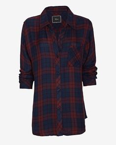 Rails EXCLUSIVE Hunter Plaid Shirt from @intermix