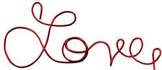 Love Red Wire Script Cake Topper * Sensational bargains just a click away : baking desserts recipes