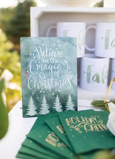 Dreamy Mint & Metallic Hot Cocoa Stand Party