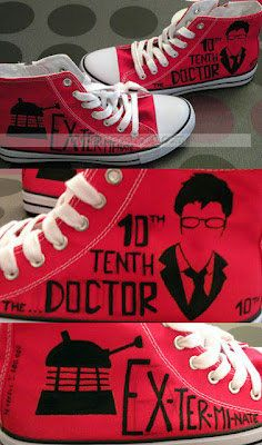 Doctor Who shoes High-top Painted Canvas Shoes