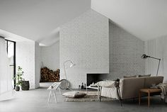 #white #fireplace