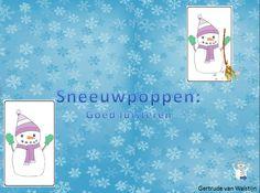 Digibordles: goed luisteren  Digibordles voor kinderen  groep 1/ 2. Telkens zie je 4 verschillende sneeuwpoppen. Klik op de sneeuwpop waar je de goede omschrijving van hoort.   Er zijn 2 versies. Er is een versie waar jezelf de tekst moet voorlezen en een andere versie waarin de tekst wordt ingesproken.   De eerste versie kan je in kleine kring aanbieden,waarna de kinderen zelfstandig de tweede versie kunnen spelen…