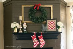 Crafty Texas Girls: Christmas Mantle 2012