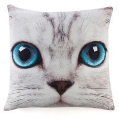 Coussin Chat Silver Kitty