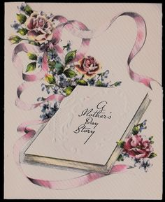 vintage mothers day greeting card embossed unused old stock a mothers day story - Mother039s Day Greeting Card Messages