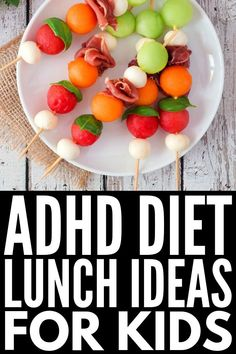 60+ ADHD Diet Tips and Recipes | Whether you're looking for menu plan ideas for kids, for teens, or for adults as a natural treatment for attention deficit disorder, this collection of breakfast, lunch, dinner, snack, and dessert recipes is perfect for the whole family – even for picky eaters! We've even included a great recipe books for smoothies to help ensure your child is getting all the nutrients he or she needs. #ADHD #ADHDDiet #ADHDKids #ADHDStrategies