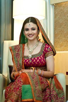 Beautiful Indian bride, bridal lehenga