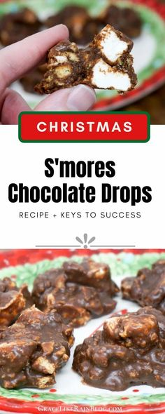 S'mores Chocolate Drops are a classic chocolate treat that reminds me of a Little Debbie Marshmallow Supreme. Do you remember those sweet chocolate goodies with pillowy marshmallow on top of a graham cracker layer? They've been discontinued by Little Debbie but we're bringing back our own version! | Christmas Candy Recipes | Christmas Chocolates | Smores Fudgies | Smores Fudge Drops | #Chocolate #Smores #Recipes #Christmas #candy Easy Christmas Candy Recipes, Christmas Candy Gifts, Graham Cracker Crumbs, Graham Crackers, Chocolate Treats, Melting Chocolate, Christmas Chocolates, Drops Recipe, Key Food