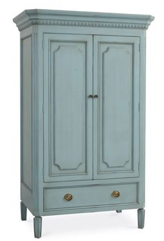 Swedish Armoire With 2 Shelves - traditional - dressers chests and bedroom armoires - Redford House Hampton Furniture, Cottage Furniture, Home Furniture, Business Furniture, Outdoor Furniture, Furniture Buyers, Furniture Stores, Cheap Furniture, Modern Furniture