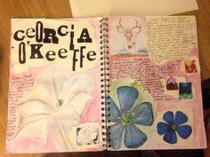 38 Ideas gcse art ideas nature inspiration for 2019 Sketchbook Layout, Textiles Sketchbook, Gcse Art Sketchbook, Sketchbook Inspiration, Sketchbook Ideas, Gcse Books, Artist Research Page, Georgia O'keefe Art, Art Journal Prompts