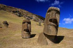 Moai statues at Rano Raraku – Easter Island.