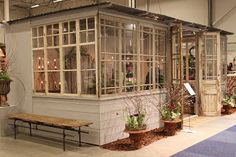 Could someone build me a glassed in porch? Or a greenhouse with windows like the… – Marina Berg Garden Studio, Backyard, Patio, Glass House, Little Houses, Beautiful Homes, Porch, New Homes, Cottage