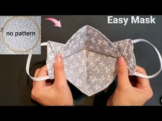 Small Sewing Projects, Sewing Hacks, Sewing Tutorials, Sewing Crafts, Sewing Patterns, Easy Face Masks, Diy Face Mask, Yarn Thread, Diy Mask