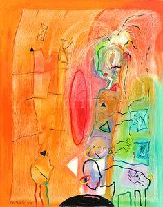 Happy Colors, Artists, Colour, Orange, Stone, Gallery, Painting, Color, Rock