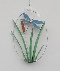 Dragonfly Stained Glass Suncatcher Stained by RavensStainedGlass, £25.00