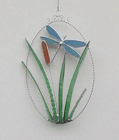 Stained Glass Butterfly Suncatcher Purple by RavensStainedGlass