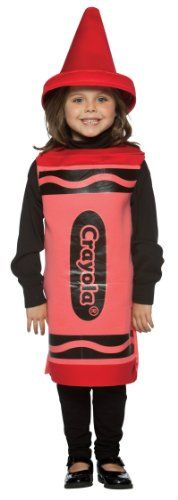 Girl's Costume: Red Crayola Crayon- Small  - Click image twice for more info - See a larger selection of kids tv and movie costumes  at  http://costumeriver.com/product-category/kids-tv-and-movie-costumes/ -  kids, holiday costume , event costume , halloween costume, cosplay costume, classic costume,  clothing, gift ideas