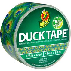 """""""Duck Brand Duck Tape, Peacock"""" -- Had no idea this even existed!"""