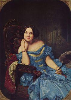 Federico de Madrazo.  Title: Portrait of Doña Amalie de Llano y Dotres, Condesa de Vilches Date1853