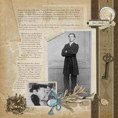 Fritz ~ Interesting heritage portrait page with extensive genealogical journaling.